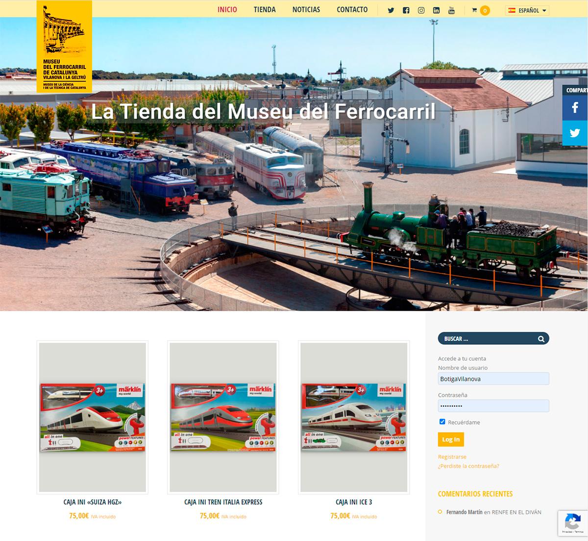 Tienda online del Museo del Ferrocarril de Cataluña