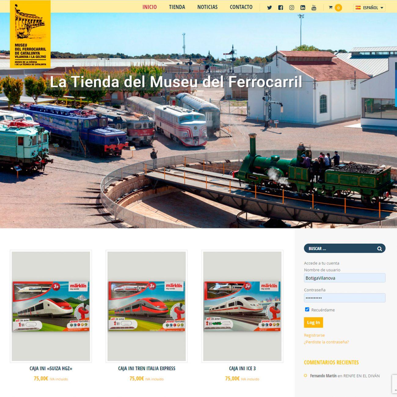 Tienda online del Museo del Ferrocarril de Cataluña.