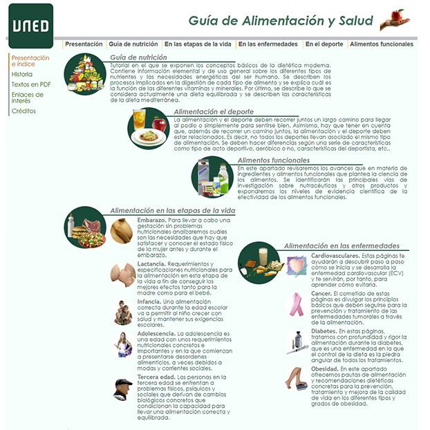 Guía de Alimentación y Salud de la UNED